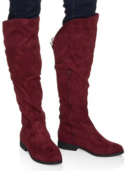 Tall Lace Up Back Boots - 1116074707678