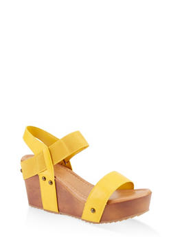 Wooden Wedge Sandals - 1117004064673