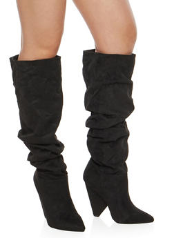Slouchy Cone Heel Boots - 1118014064663