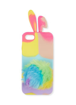 Bunny Pom Pom iPhone Case - 1120057692650
