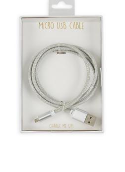 Glitter Micro USB Cable - 1120066412918