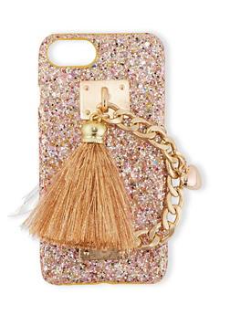 Chain Tassel Glitter Phone Case - 1120066413684