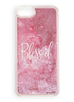 Blessed Glitter Waterfall iPhone Case - 1120066413883