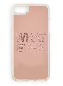 Whatever Glitter Graphic iPhone Case - 1120066414564