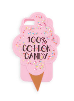 100% Cotton Candy Silicone iPhone Case - 1120066414824