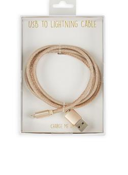 Glitter Micro USB Cable - GOLD - 1120066415822