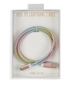 Glitter Micro USB Cable - MULTI COLOR - 1120066415822