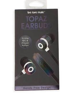 Iridescent Earbuds - BLACK - 1120069660215