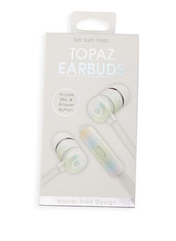 Iridescent Earbuds - WHITE - 1120069660215