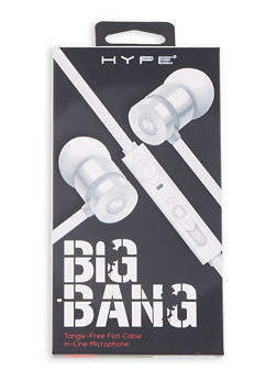 Duo Tone Stereo Earbuds - WHITE - 1120069660685