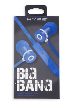 Duo Tone Stereo Earbuds - BLUE - 1120069660685