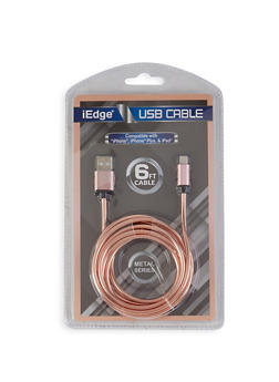 Six Foot USB Charging Cable - ROSE - 1120071460774