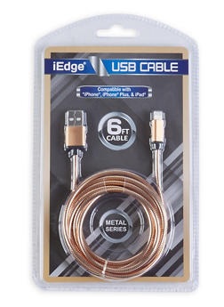 Six Foot USB Charging Cable - GOLD - 1120071460774