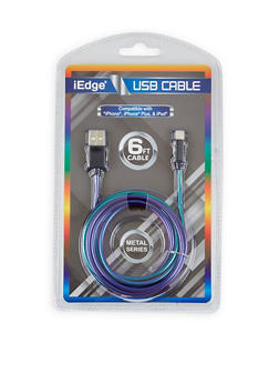 Six Foot USB Charging Cable - MULTI COLOR - 1120071460774