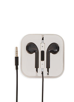 Plastic Earbuds - BLACK - 1120072763120