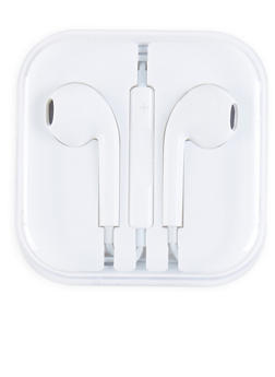 Plastic Earbuds - WHITE - 1120072763120