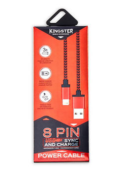 8 Pin USB Charging Cable - Red - 1120074513002