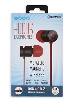 Metallic Magnetic Wireless Bluetooth Earphones - Red - 1120074611466