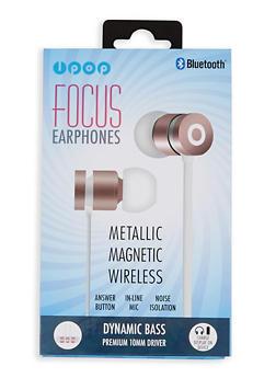 Metallic Magnetic Wireless Bluetooth Earphones - Rosegold - 1120074611466