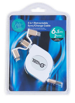 3 in 1 Charge Cable - WHITE - 1120075066500
