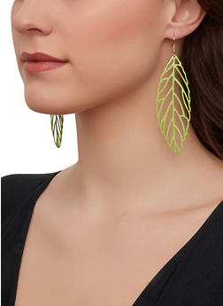Laser Cut Drop Earrings - 1122003202815