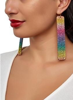 Multi Rhinestone Drop Earrings - 1122029363062