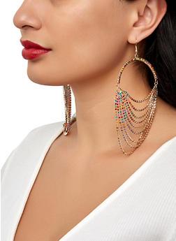 Layered Rhinestone Earrings - 1122029367109