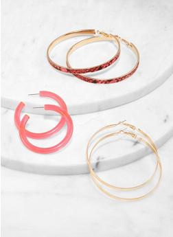 Hoop Earring Trio - 1122057695297