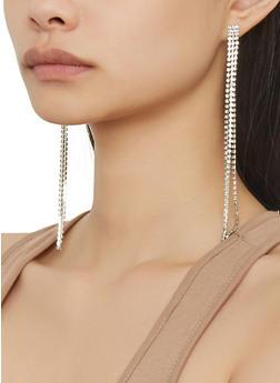 Rhinestone Drop Earrings - 1122057699275