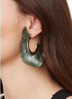 Half Hoop Fringe Earrings - 1122059639858