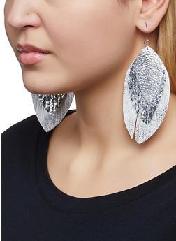 Triple Leaf Drop Earrings - 1122062810487
