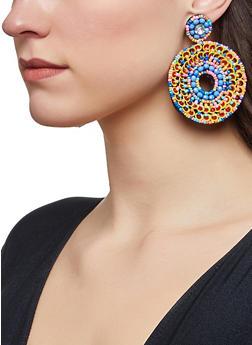 Beaded Sequin Felt Earrings - 1122062812476