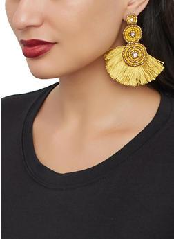 Beaded Fringe Drop Earrings - 1122062815141
