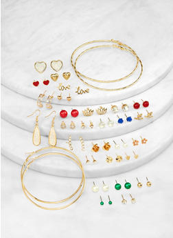 Set of 30 Assorted Earrings - 1122062920824