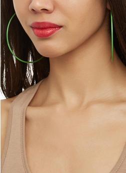 Set of 6 Assorted Hoop and Stud Earrings - 1122062921875