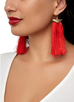 Fringe Tassel Drop Earrings - 1122062921974