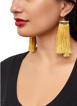 Fringe Tassel Drop Earrings - 1122062921974