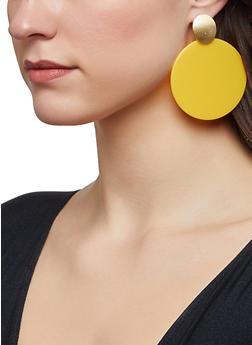 Plastic Circle Drop Earrings - 1122062923670