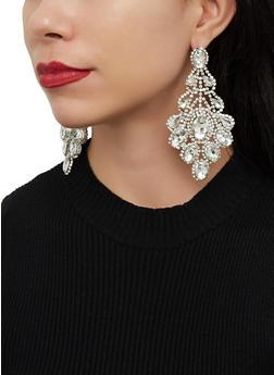 Rhinestone Chandelier Statement Earrings - 1122062926031