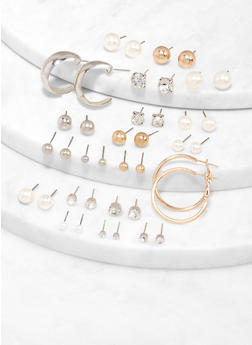 Assorted Stud and Hoop Earrings - 1122062928021