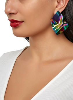 Wavy Holographic Earrings - 1122062928108
