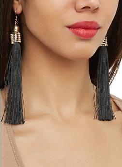 Rhinestone Tassel Earrings - 1122062928656