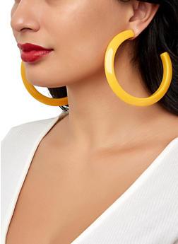 Thick Plastic Hoop Earrings - 1122062929549