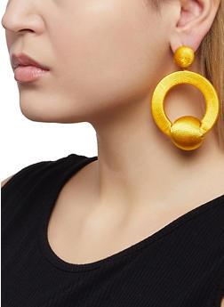 Thread Wrapped Drop Earrings - 1122065194133