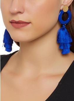 Circle Tassel Drop Earrings - 1122071210206