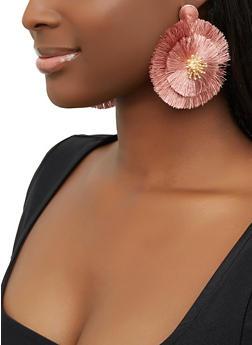 Fringe Flower Drop Earrings - 1122071212957