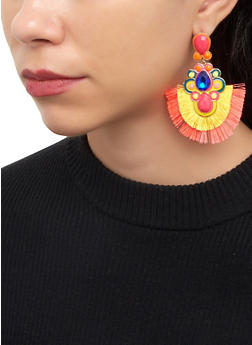 Fringe Jeweled Earrings - 1122071213085