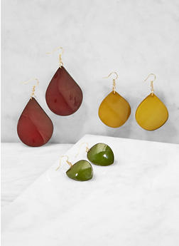 Teardrop Earring Trio - 1122071430121