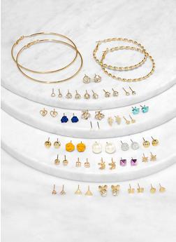 30 Assorted Hoop and Stud Earrings - 1122071430710