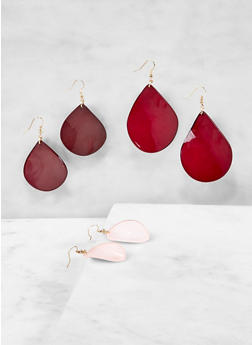 Plastic Drop Earrings - 1122071431023